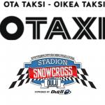 OTAXI:n Snowcross Oulu -taksitolppa palvelee